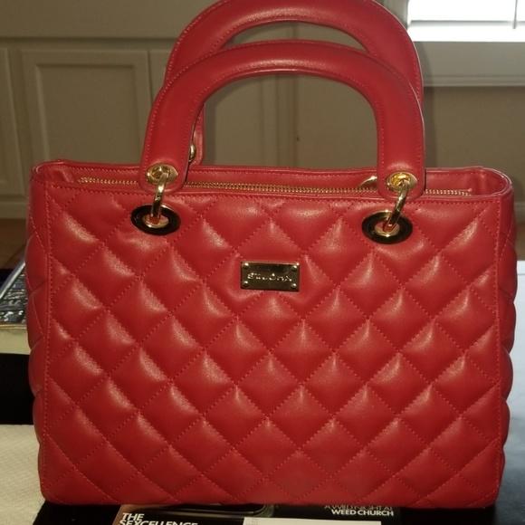 St. John Handbags - St John red leather tote